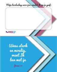 Webshop Schrijfkaartje Wees sterk