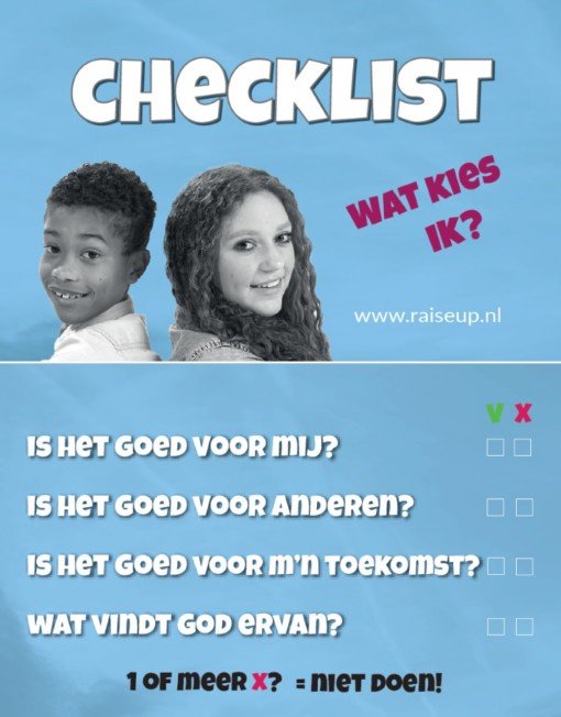 kaartje-checklist