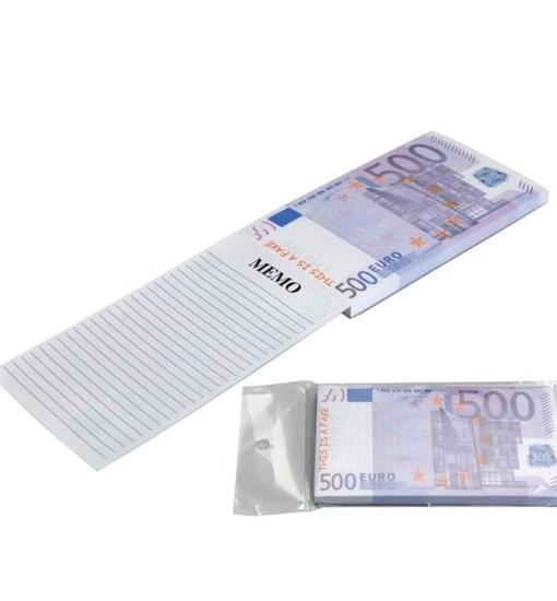 500 euro notitieblok