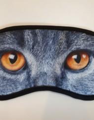 Blinddoek grijze kat