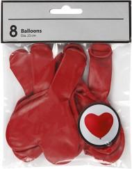Rode hartjesballonnen